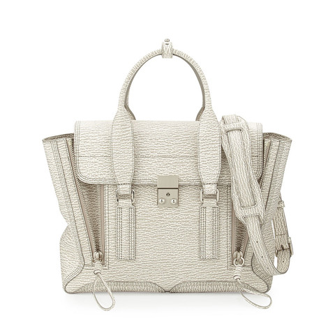 3.1 Phillip Lim Ivory-Dove Pashli Medium Satchel